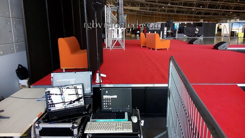 ledwall maxischermo led 3x2 torino comics 2016 - regia video