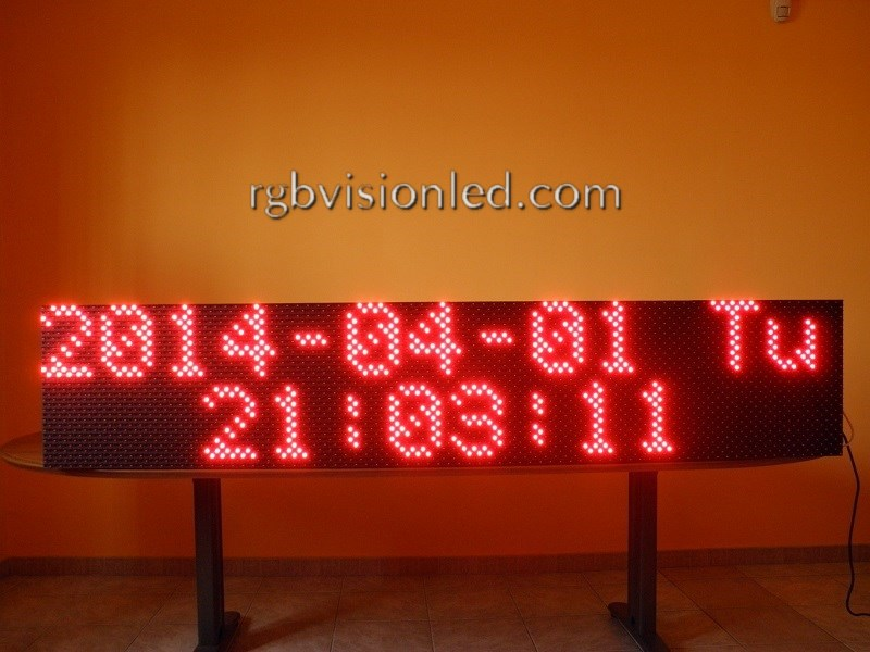 display a led monocromatico